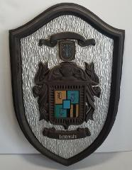 Vtg Halbert's Library Coat Of Arms LEMISH Crest Raised Picture...