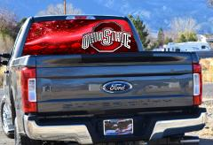 Ohio State, Buckeyes, Rear Window Graphics, Perforated Vinyl, ...