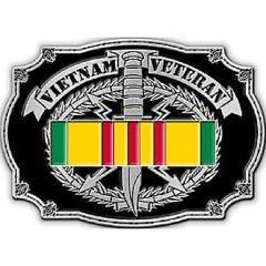 United States American Vietnam Veteran Military Belt Buckle