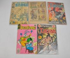 VTG Lot 5 Comic Books 1954 SAM 1977 bugs bunny 1969 Sad Sack S...