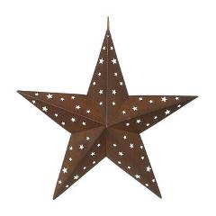 Darice Tin Star with Star Cutouts - 8 inches