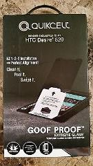 Quikcell Goof Proof Extreme Tempered Glass Protector for HTC D...