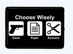 Glock Paper Scissors ......Morale Patch. Tactical Hook And Loop.