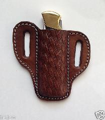 Knife Holder Dark Brown Pancake Sheath for the Buck #110 Foldi...
