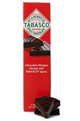 Tabasco Spicy Dark Chocolate Wedges 60 piece Dispensor Box