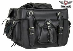 Black PVC Concealed Carry Saddlebag Waterproof Chrome Conchos ...