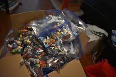 LEGO 1/2lb ASSORTED COLORS~200 Pieces-Bulk Pound Lot Brick Par...
