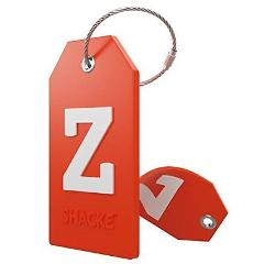LETTER Z Initial Luggage Tag w/ Full Privacy Cover & Stainless...