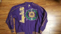 Omega Psi Phi Fraternity Jacket Q Dog Purple Gold Race Jacket ...