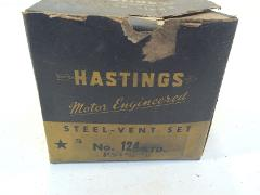 Vintage Hastings Steel-Vent Ring Set 124 With Box 3-3/16x3/32-...