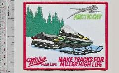 Beer Snowmobile Arctic Cat Jag & Miller High Life Beer Promo P...