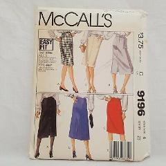 Skirt Patterns Misses Size 6 McCall's 9196 Sewing Waist 23 Pre...