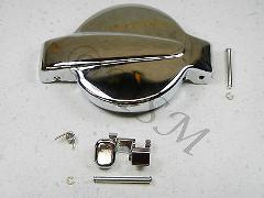 NEW HONDA GAS FUEL PETROL TANK CAP LID & RELEASE LATCH THUMB L...