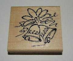 Wedding Bells Rubber Stamp Heart New Stampin Up Wood Mounted R...
