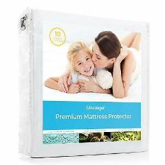 Smooth Fabric Mattress Protector - 100% Waterproof - Hypoaller...
