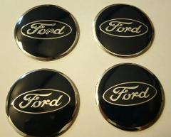 56mm Black Ford Wheel Centre Cap Emblems Badges Tin Stickers x4