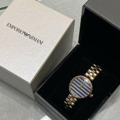 New Eporio Armani AR11220 Blue Dial Rose Gold Stain Less Stee...