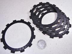 78 SUZUKI DR370 DR 370 CLUTCH FRICTION FIBER FIBRE PLATES DISC...