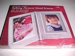 Sharper Image Silver Talking Picture Dual Frame Two Recorded M...
