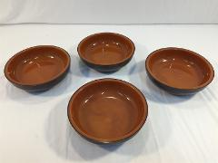 (4) Vintage Jaydon Thermo Bowls Brown Plastic Mid Century Modern