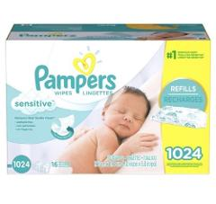 Pampers Sensitive Baby Wipes 1024 Count Perfume Free. FREE SHI...