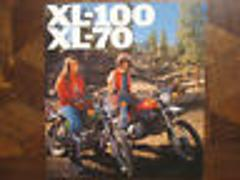 1976 HONDA XL-100 & XL-70 NOS OEM DEALER'S SALES BROCHURE XL10...
