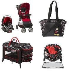 Disney Mickey Baby Gear Bundle,Travel System,Play Yard,Diaper Bag
