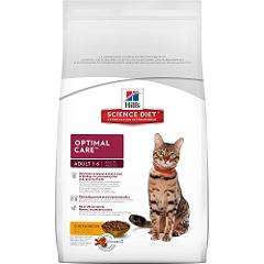 Hill'S Science Diet Adult Cat Food, Optimal Care Chicken Recip...
