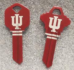 Indiana Hoosiers House Key, Schlage or Kwikset