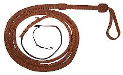 10 Feet 16 plait TAN Indiana Jones Stuntman Real Leather Bull ...