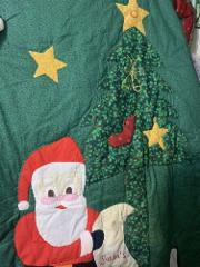 Christmas Quilt Santas List Applique Baby Wall Quilt Top 50