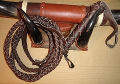 16 FOOT 4 Plait Indiana Jones Brown Leather BULL WHIPS Bullwhi...