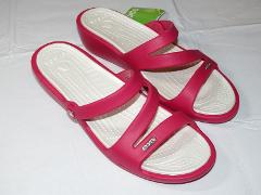 Crocs Patricia Raspberry Oyster relaxed fit Womens W11 W 11 Sl...