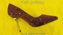 Appeal 20G Burgundy Glitter Pointy Toe 4