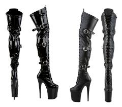 Flamingo 3028 Lace Up Triple Strap Thigh High Platform Boots 8...