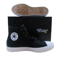Converse Chuck Taylor All Star II Hi Shoes Lunarlon Black 1501...