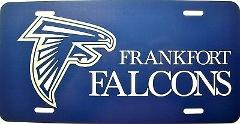Frankfort West Virginia Falcons License Plate