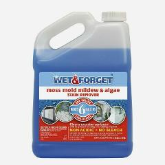 WET & FORGET Mold & Mildew STAIN REMOVER Gal Moss Algae All Su...