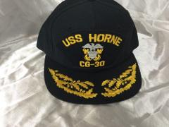 USS HORNE CG-30 Scrambled Eggs Snap Back Hat Made In USA Embro...