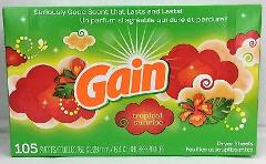 Gain Tropical Sunrise Scent Dryer Sheets 105 count box