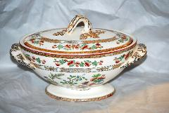 1879 Antique Indian Tree Copeland Gravy/Sauce Tureen 9