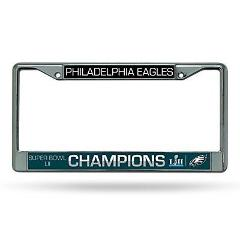 NFL Philadelphia Eagles Super Bowl LII Champs Chrome License P...