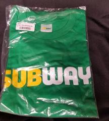 Subway XL restaurant employee uniform shirt New style Short S...