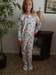 Girl Carter's Fleece Footed pajama Blanket Sleeper Size 4 5 Do...