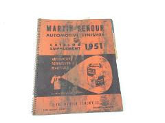 1951 Martin Senour Automotive Finishes Catalog Supplement A64-...