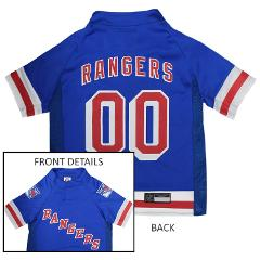 New York Rangers NHL Pets First Licensed Dog Pet Hockey Jersey...
