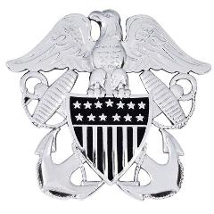 US Navy Officer Cap Device Car Emblem