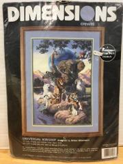 Dimensions Crewel Kit Universal Kinship Wild Animals 1505 Unop...