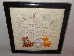 New Baby Prayer Christian Nursery Bless Me Lord Finished Cross...