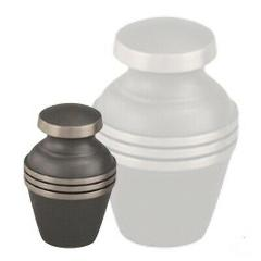 Small/Keepsake 4 Cubic Inch Brass Ashen Pewter Funeral Cremati...